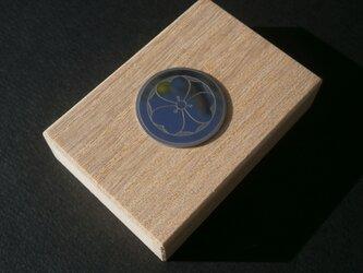 受注生産 家紋 彫金 エンブレム 桐箱取付済 出産祝い ジュエリーボックス 父の日の画像