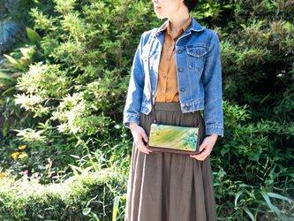 【たっぷり入るお財布本革バッグ】CHAPAWALLET -ちゃぱうぉれっと- Greenの画像