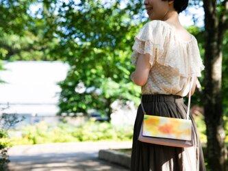 【たっぷり入るお財布本革バッグ】CHAPAWALLET -ちゃぱうぉれっと- Orange gardenの画像