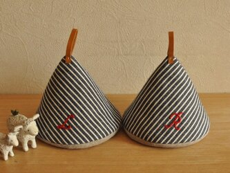 三角鍋つかみ 2個組の画像