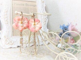 フープイヤリング プチローズ☆*:. さくらピンクの画像