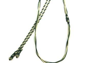 マクラメ編みネックレス紐【つる】とくさ・わかばの画像