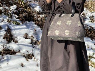 Boston bag  S size [Växbo Lin]黒クロスの画像