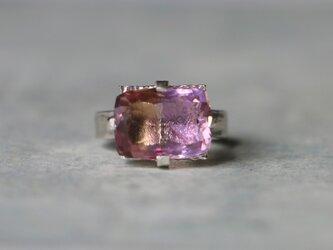古代スタイル*天然アメトリン バイカラー 指輪*7.5号 SVの画像