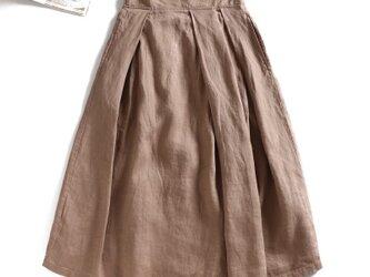 f8051719 リネン100% 日常にも通勤にも 合わせやすい リネンのスカートの画像