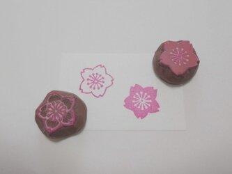 消しゴムはんこ 桜・桜の画像