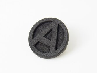 【再販】アナーキーマーク レザーバッジ ブラックの画像