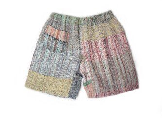 手織り ショートパンツ 春夏の画像
