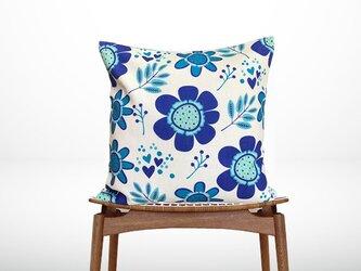 森のクッション Big blue flowers -ヒノキの香り-の画像