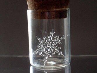 ガラス製 雪の結晶(樹枝状/3cm)の画像