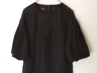 フェアリーバルーン袖ブラウス(ネイビー)の画像