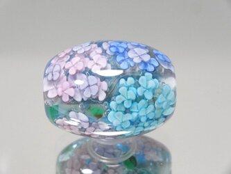 紫陽花のとんぼ玉(ガラス玉)の画像