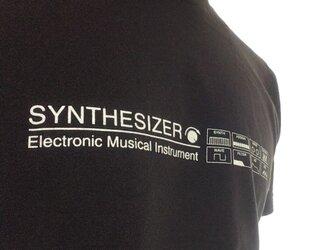 【Tシャツ】SYNTHESIZER T-shirt・シンセサイザーTシャツ・ブラックの画像