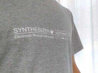 【Tシャツ】SYNTHESIZER T-shirt・シンセサイザーTシャツ・グレーの画像