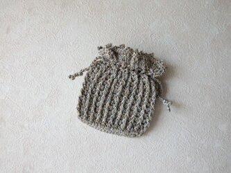 ミニ巾着・金 銀 (展示品)の画像