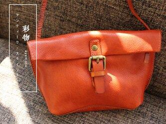 【受注製作】本革の収納たっぷり ポシェットバッグ かばん PB902の画像