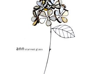 ステンドグラス 紫陽花C180524-Wの画像