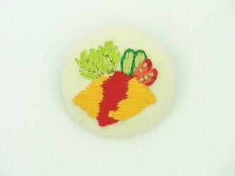 オムライスの刺繍ブローチの画像
