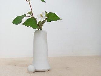 白マット花器 1の画像