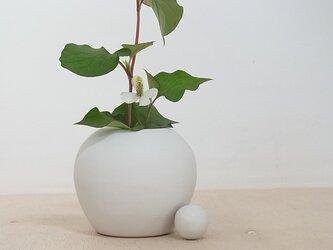 白マット花器 2の画像
