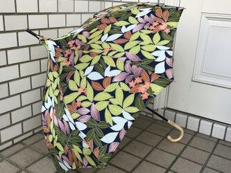 ショートタイプのパゴダ日傘 de 着物 若葉の画像
