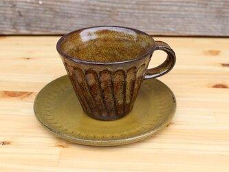 茶色の器 カップとソーサ[18May14]《釉薬》の画像