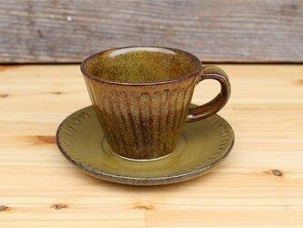 茶色の器 カップとソーサ[18May15]《釉薬》の画像
