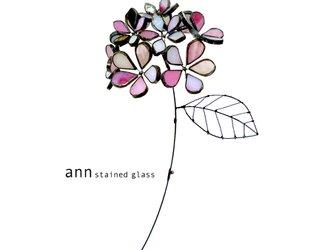 ステンドグラス 紫陽花B180524-Rの画像