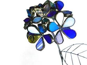 ステンドグラス 紫陽花A180524-Bの画像