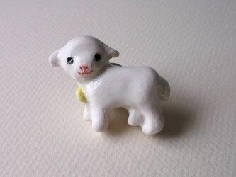 陶ピンブローチ-羊のコドモの画像