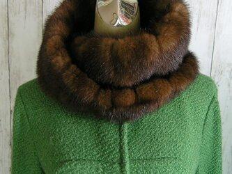 ¶ new antique fur ¶ マホガニーミンクファーゆったりnejiriスヌード「may」の画像