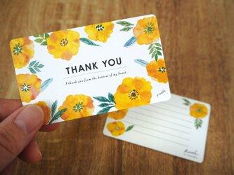 黄色い野ばらのTHANK YOUカードの画像