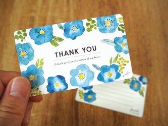 青い野ばらのTHANK YOUカードの画像