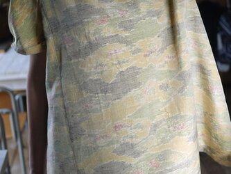 正絹紬のフリルトップスの画像