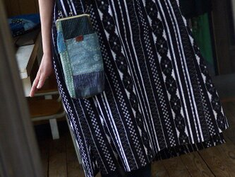 久留米絣変形ワンピースの画像