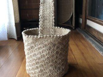 麻ひも バスケット型 野菜収納 バッグの画像