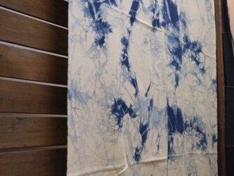 藍染めマルチカバー:むら染め柄の画像