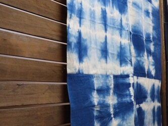 藍染めマルチカバー:パッチワークの画像