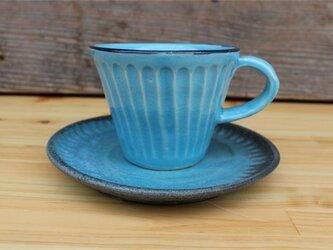 トルコブルーの器 カップとソーサ[18May-25]《釉薬》の画像