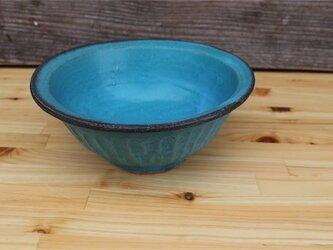 トルコブルーの器 深鉢[18May-32]《釉薬》の画像