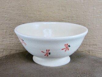 陶器ご飯茶碗(中)赤とんぼづくし(1)の画像