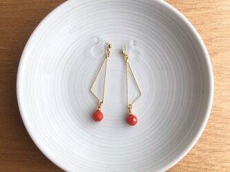 coral earring/pierceの画像