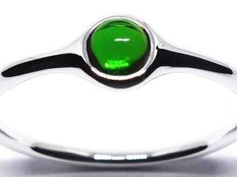 新緑のダイオプサイド・ミニオンリングSV925【Pio by Parakee】minion diopsideの画像