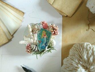 Seaglass マーメイドのペーパーウエイトの画像