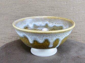 陶器ご飯茶碗(大)そば釉+白の画像