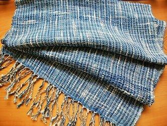 手織りストール(藍)no.2の画像