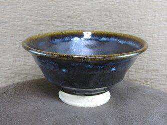 陶器ご飯茶碗(やや大)面取り・黒の画像