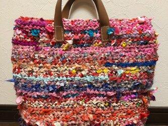 sold 裂き編みトートバッグの画像