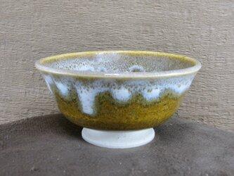 陶器ご飯茶碗(やや大)そば釉+白の画像