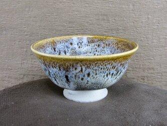 陶器ご飯茶碗(小)朝鮮唐津風 茶・白の画像